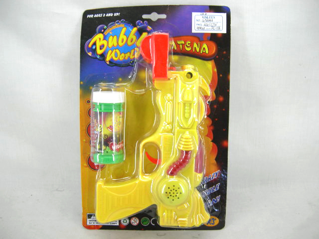 B/O BUBBLE GUN WITH FLASH AND SOUND
