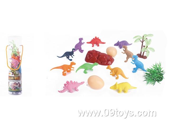 12款恐龙套装(配件5块)
