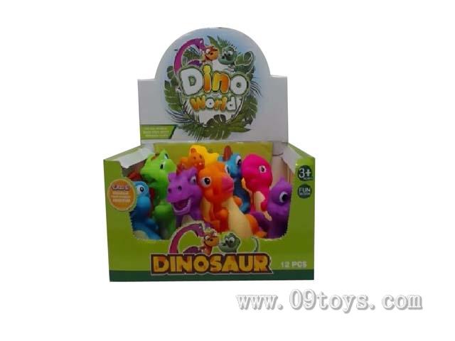 12只庄搪塑卡通恐龙