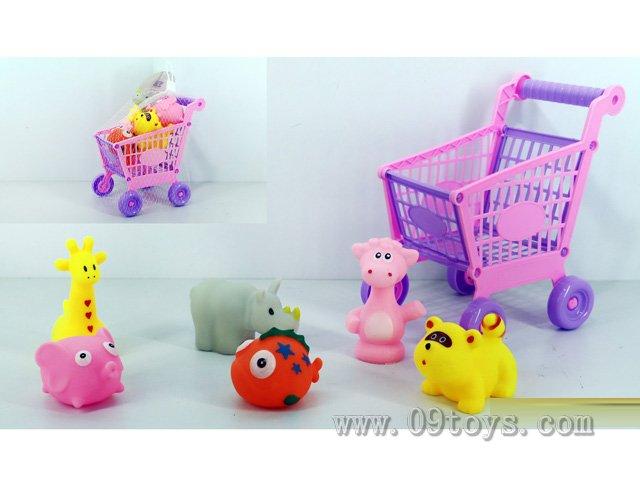 购物车+小动物6只