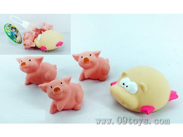 喷水小猪+BB叫小猪4只装