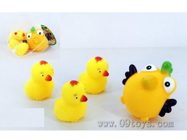 喷水小鸡+BB叫小鸡4只装