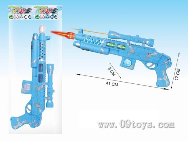 蓝色电动灯光枪(不 包电)