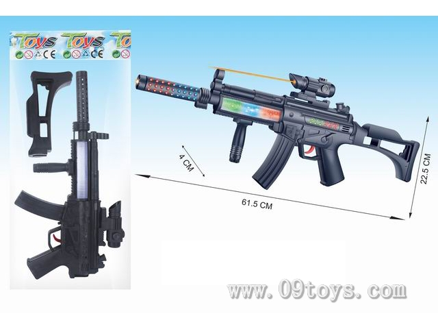 黑色电动灯光枪(不 包电)