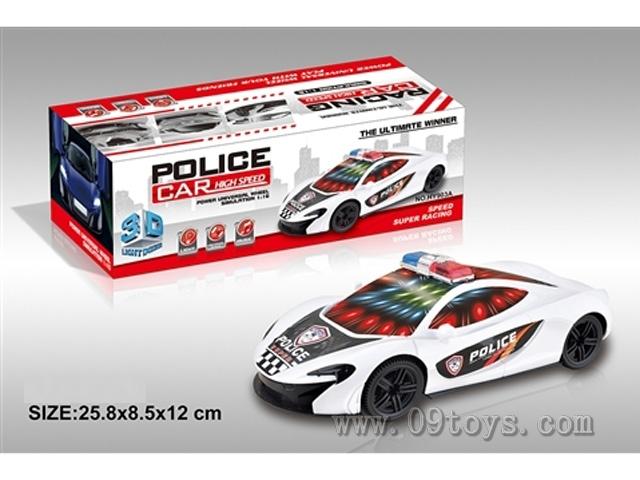 电动3D万向警车 (迈凯伦)带灯光音乐 (红、白二色混装)