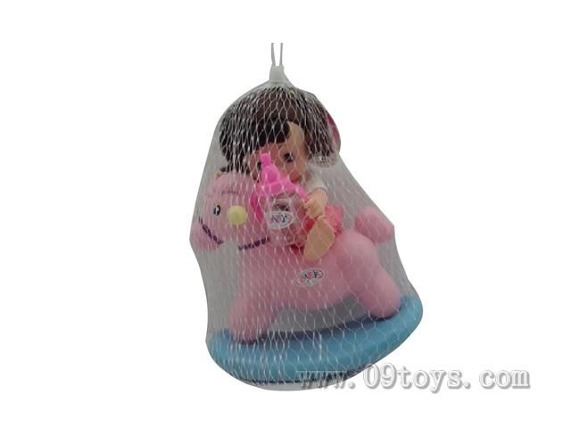 摇马搪胶娃娃套装