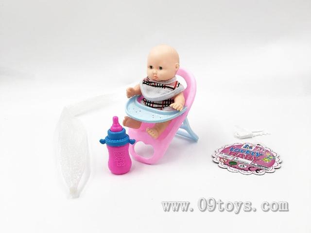 5.5寸表情娃娃配新餐椅奶瓶