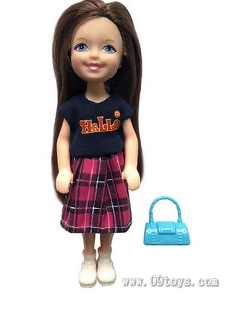 新款6寸实身凯莉男孩娃娃带包包系列