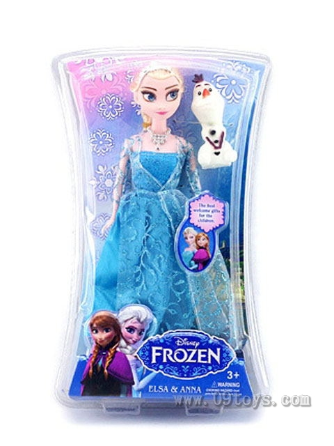 11寸实身冰雪芭比带雪宝项链