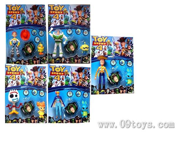4.5-6寸玩具总动员单只+动物1只+发射器1只 5款