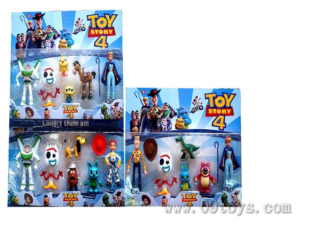 4-6寸玩具总动员3只+动物3只+配件