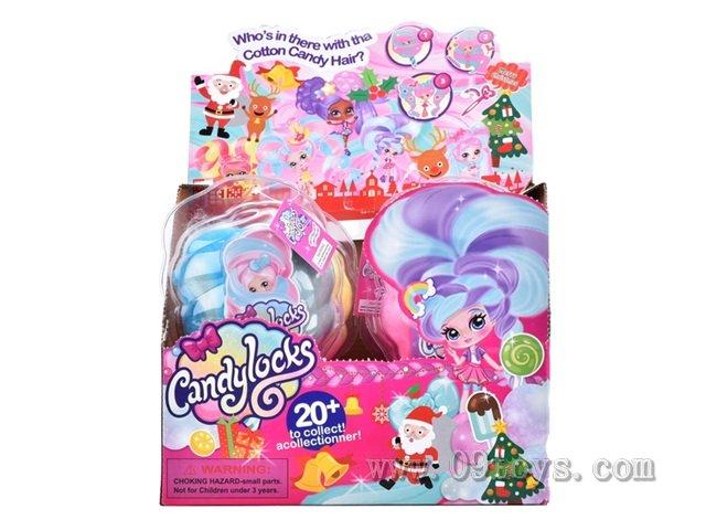 4寸圣诞版棉花糖女孩6只展示盒