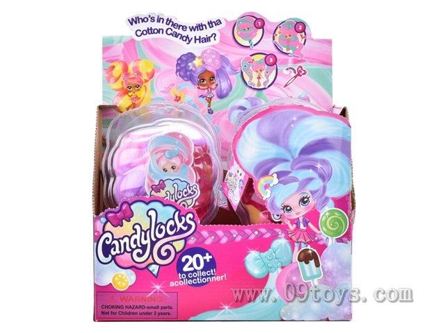 4寸棉花糖头发女孩6只展示盒