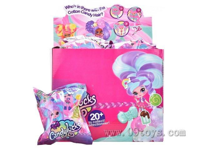 4寸棉花糖头发女孩24只锡袋展示盒