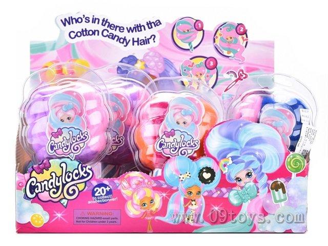 4寸棉花糖头发女孩12只展示盒