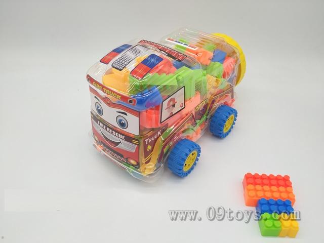 消防车益智类1#积木多色混装称重320克(100PCS+)