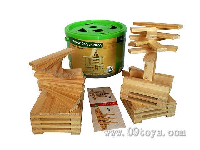 木制片状积木100pcs