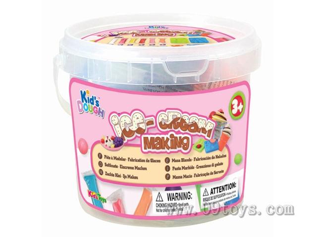 彩泥冰淇淋製作圆桶套装 (24 x 20克)