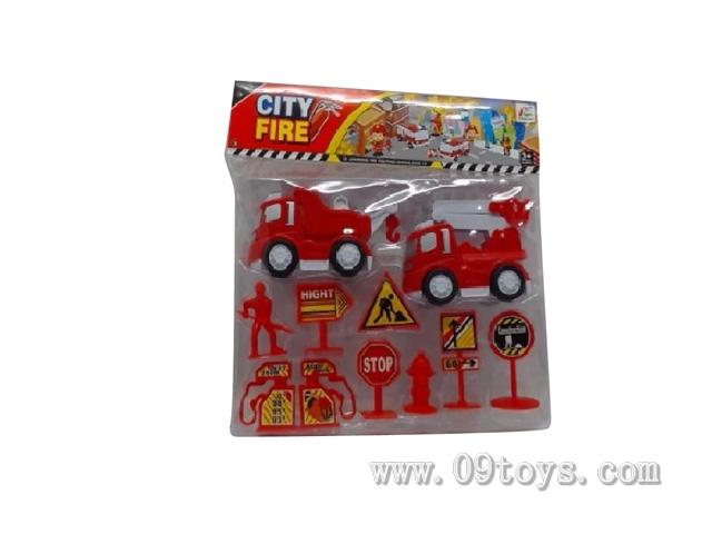 2款惯性消防车配件1PVC袋