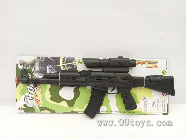 AK实色火石枪配瞄准器