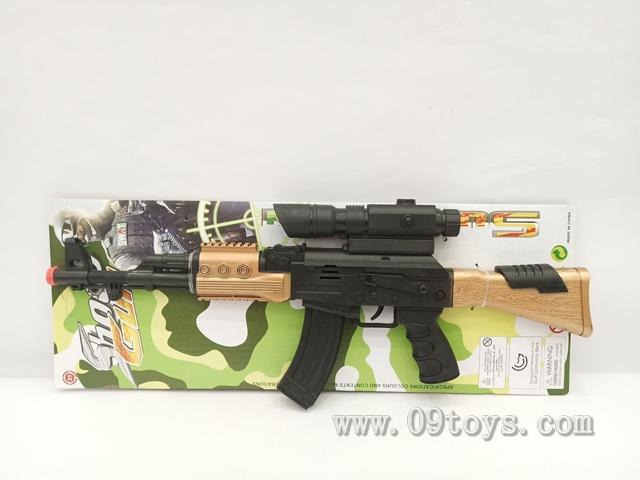 AK头尾金火石枪配瞄准器