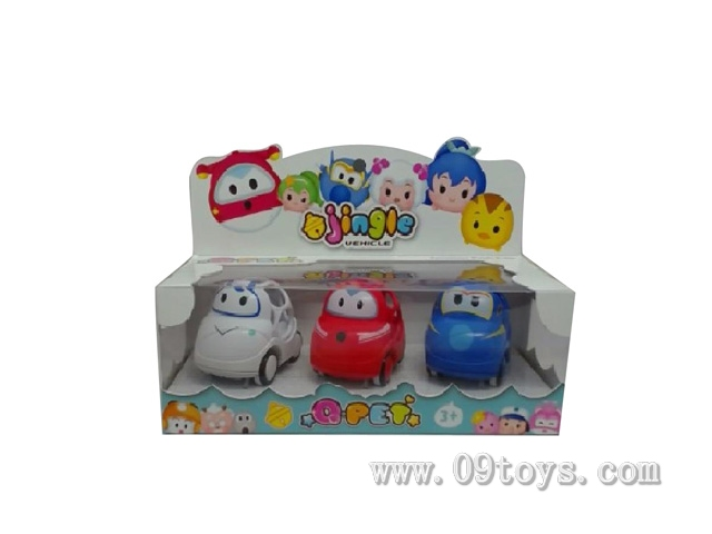滑行Q宠搖鈴玩具车(彩盒)