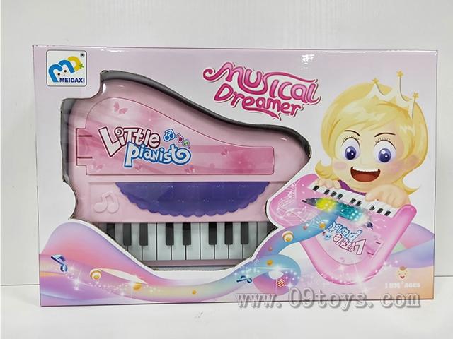 电子琴(粉红/浅蓝 2色)灯光/音乐 /22键