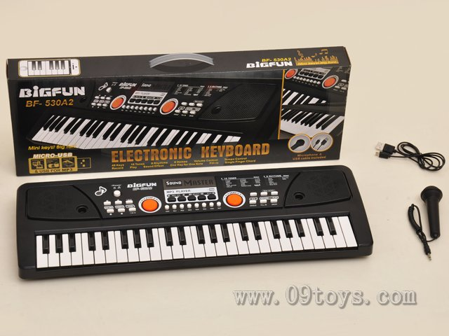 49键电子琴带麦克风/USB电影线和U盘播放音乐插口