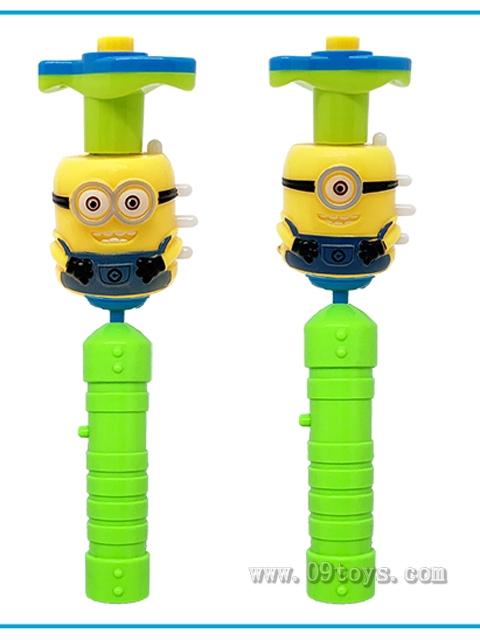 小黄人灯光音乐陀螺棒