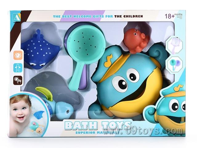 章鱼泡泡机海龟浴室组合