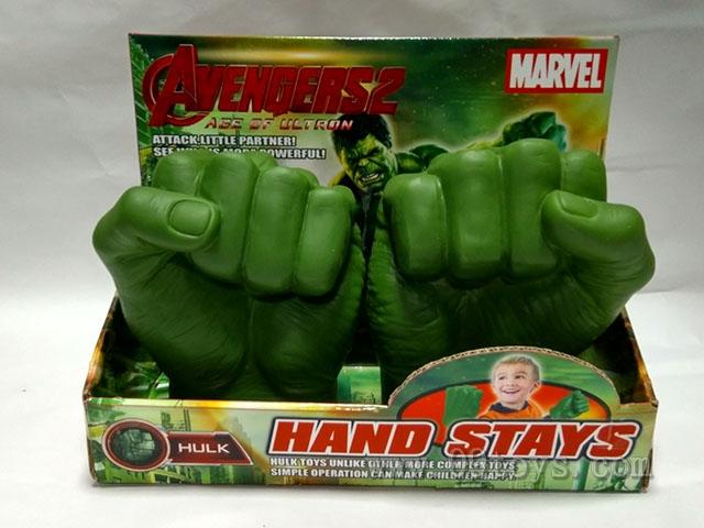 2只绿巨人手手偶(左右手混装)