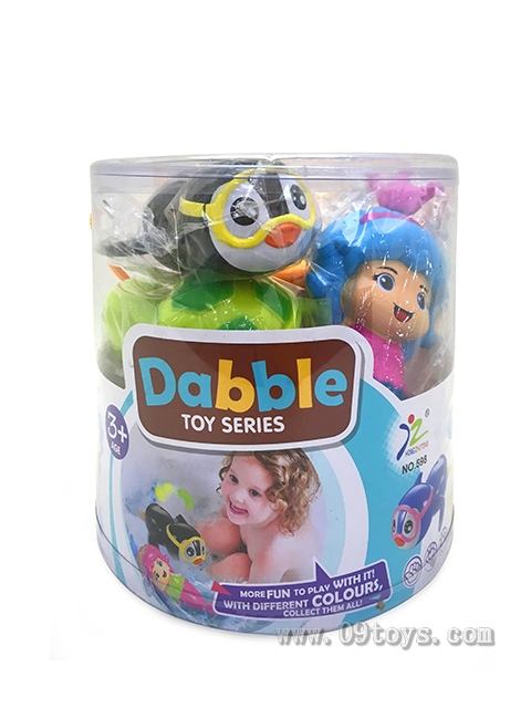 PVC桶装游水玩具(6只庄)