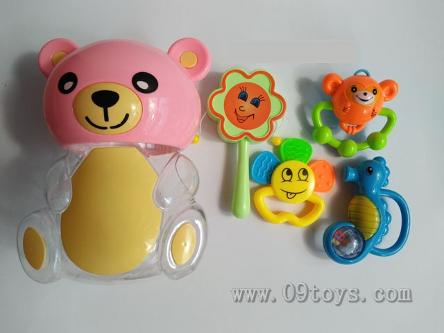 熊瓶摇铃软胶4件套