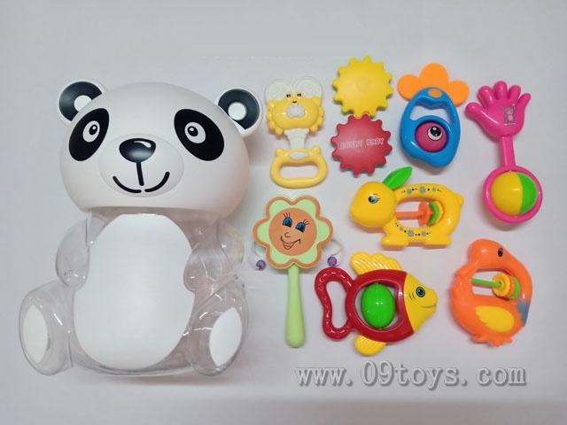 熊猫瓶摇铃软胶8件套