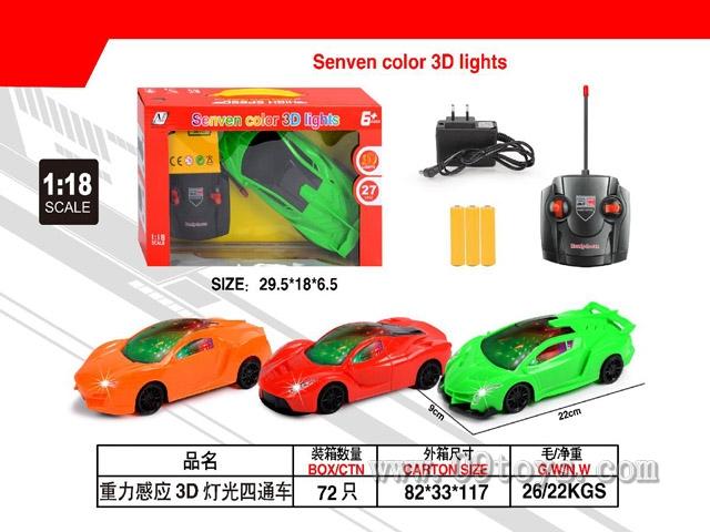 1:18四通     3D灯光遥控车(英文)