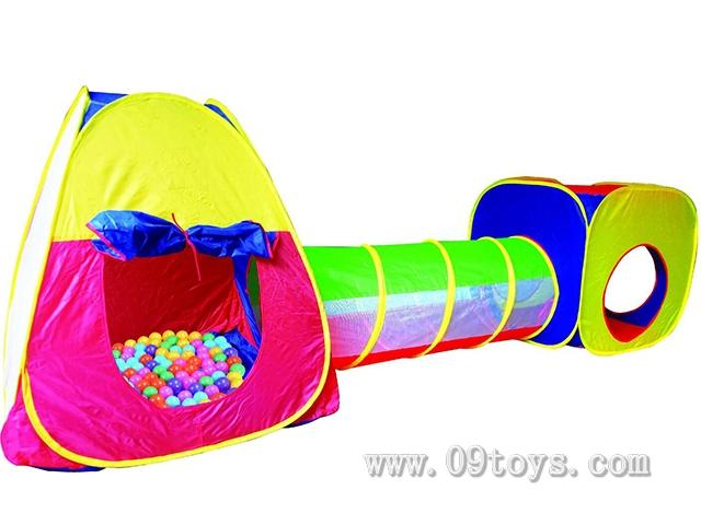3合一方形儿童帐篷