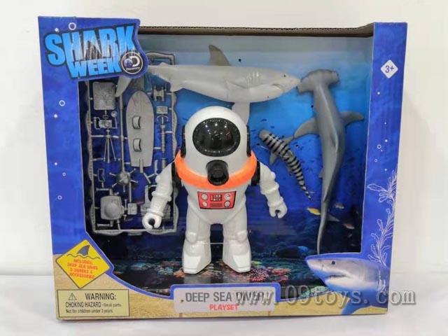 鲨鱼+潜水 人套装