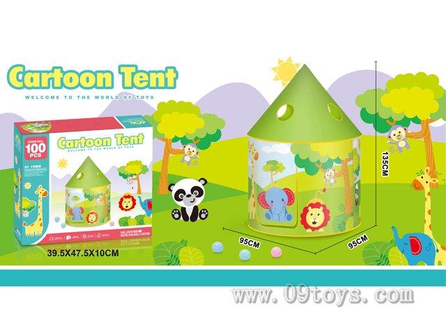 长劲鹿蒙古包玩具帐篷带100粒球