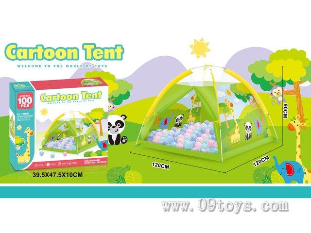 沙滩玩具长劲鹿帐篷带100粒球