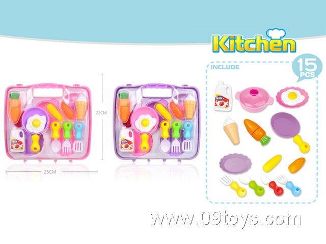 餐具2色混(粉红、紫色)