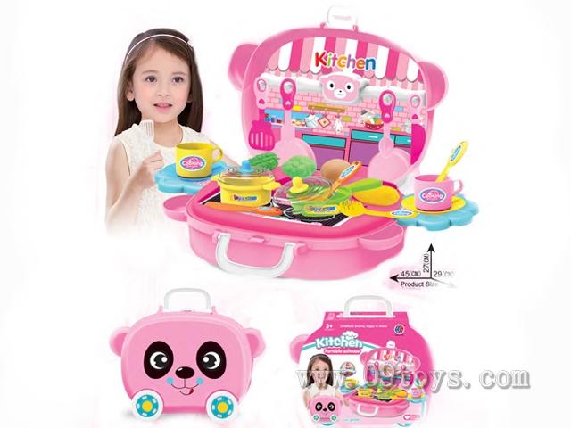 大熊猫餐具手提盒