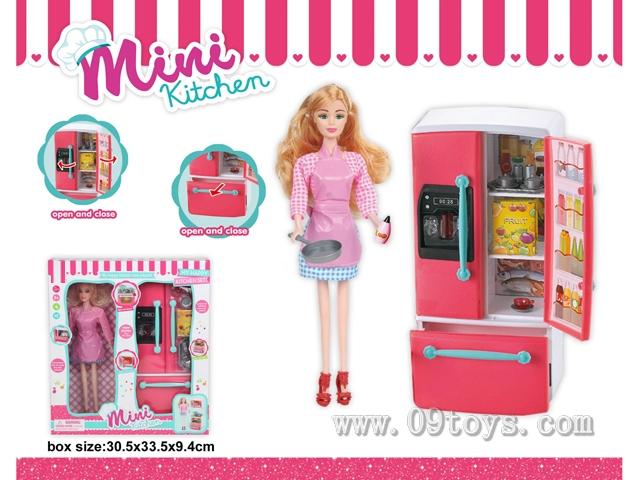 冰箱+芭比娃娃