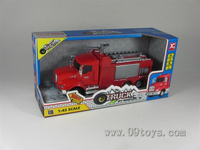合金回力消防车(3款)