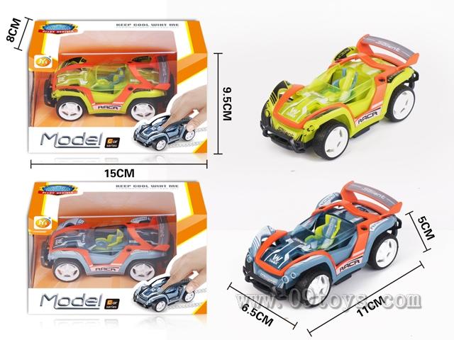 合金回力赛车(合金橙色,车身绿色,灰色混装)