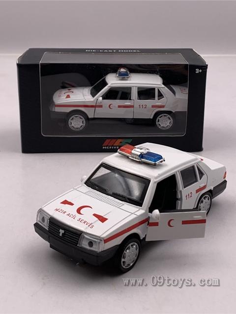1:32复古合金救护车老爷车