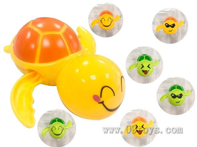 qq表情上链发条戏水海龟